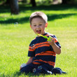 Boy with bubbles — Stock Photo #6001592