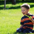 Boy with bubbles — Stock Photo #6001596