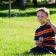 Boy with bubbles — Stock Photo #6001598