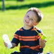 Stock Photo: Boy with bubbles