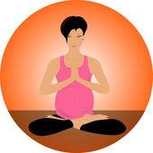 Yoga set. Meditation, asana, lotus — Stock Vector