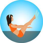 Yoga set. Fitness girl. Sport — Stock Vector
