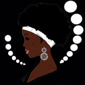Glamour african woman — Stock Vector
