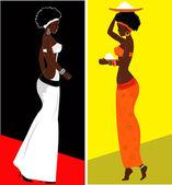 African woman — Stock Vector