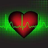 Il battito cardiaco, illustrazione vettoriale, eps10 — Vettoriale Stock