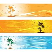 Summer banners, eps 10 — Stock Vector