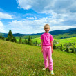 Girl in a mountain walk — Stock Photo