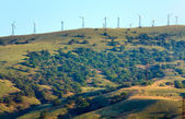 Wind-driven generator on the ridge (Meganom, Crimea) — Stock Photo