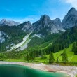 Alpine summer lake view - Stockfoto