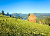летние горные деревни окраине — Стоковое фото