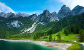 Alpine summer lake view — Foto Stock
