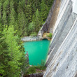 Stock Photo: Mountain lake dam view
