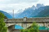 Mountain lake dam view — Stock Photo