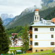 Stock Photo: Dolomites mountain village summer view