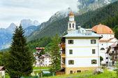 Dolomites mountain village summer view — Stock Photo