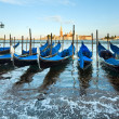 Venice gondolas — Stock Photo