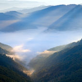 Mountain hazy daybreak — Stock Photo