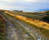 Autumn mountain farm view — Stock Photo