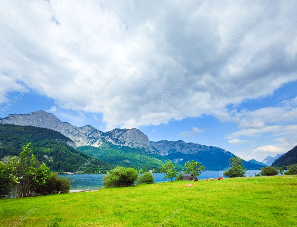 Alpine Summer Lake View Stock Photo Wildman 6335328