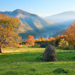 Autumn evening mountain hill — Stock Photo
