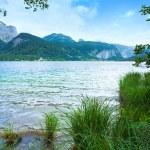 Alpine summer lake view — Stock Photo