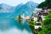 Vista de hallstatt (austria) — Foto de Stock