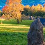 Autumn evening mountain hill — Stock Photo