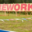 Fireworks sign — Stock Photo