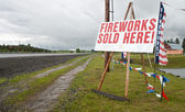 Fireworks sign — Stock Photo