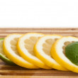 Slices of lemon and lime — Stock Photo