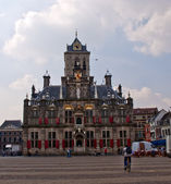 Ancient town hall of Delft in the Netherlands . — Stock Photo