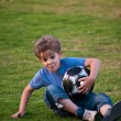 Stock Photo: Boy with ball.
