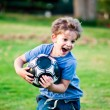 Boy with the ball. — Stock Photo