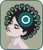 Gentle woman. — Stock Vector