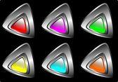 Silver buttons — Vecteur