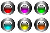 Botones plateados — Vector de stock