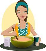 Cook woman — Stock Vector