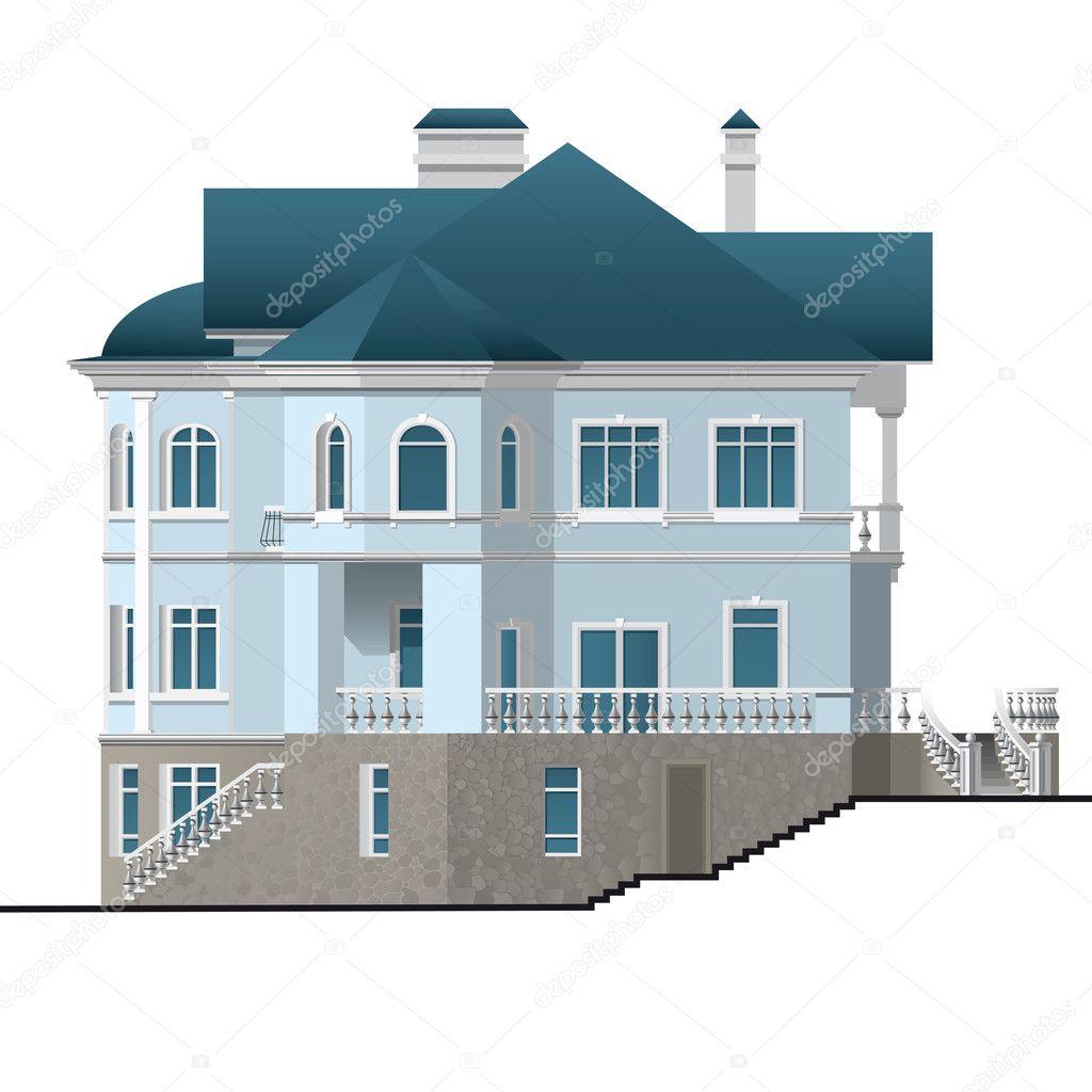 Appartement huis stockvector tiff20 5380260 - Appartement huis ...