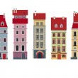 Royalty-Free Stock Vector Image: Five houses
