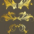 Stock Vector: Golden Flourish Set