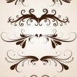Set Of Isolated Celebrated Floral Elements - Stock Vector