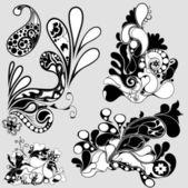 Decorative Flourishes — Stock Vector