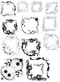 Lovely Elementary Swirl Corner Set — Stock Vector