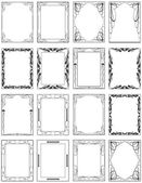 Creative Ancient Frames Set — Stock Vector