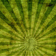 Grunge Green Sunburst Map Background — Stock Photo