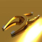 Golden Magnet — Stock Photo