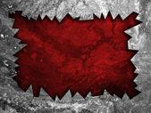 グランジ亀裂赤い壁シート — ストック写真