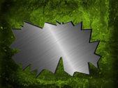 グランジ テクスチャ壁の光沢のある金属を亀裂します。 — ストック写真