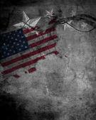 Bandiera usa sulla parete del grunge — Foto Stock