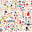 Royalty-Free Stock Vector Image: Vector illustration - set of christmas icons and Graphics vector stock